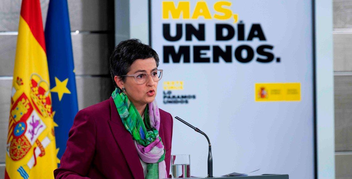 Fotografía facilitada por Moncloa de la ministra de Asuntos Exteriores Arancha González Laya. EFE/POOL MONCLOA/BORJA PUIG DE LA BELLACASA