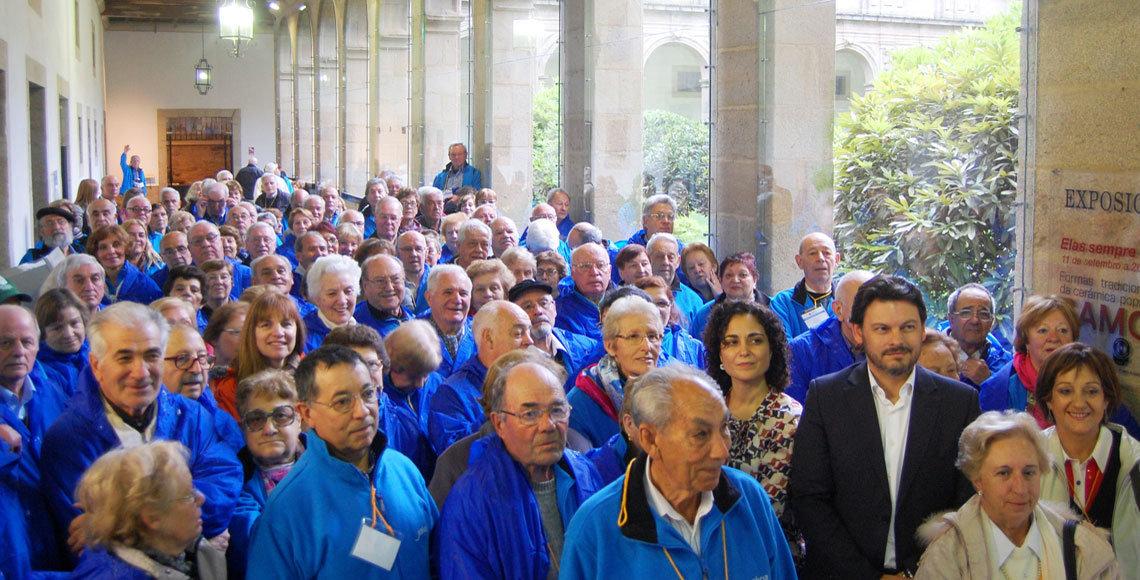 Emigrantes gallegos disfrutando de un programa de Reencontros, de la Secretaría Xeral.