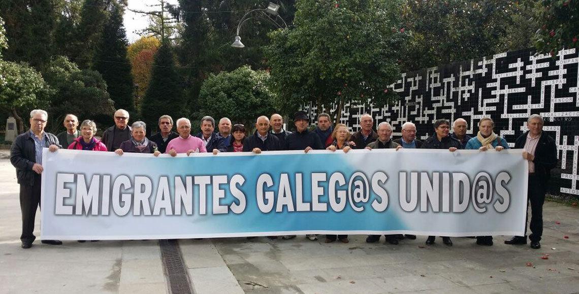 Una de las pasadas manifestaciones a las que acudieron los representantes de la Asociación de Emigrantes Retornados Ulla-Umia.