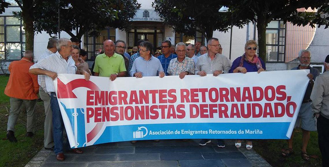 Una de las concentraciones organizadas por los emigrantes retornados de la provincia de Lugo.