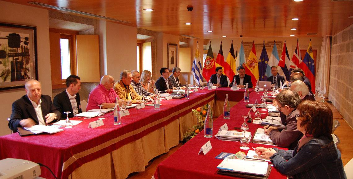 Reunión de la Comisión Delegada del Pleno del Consello de Comunidades Galegas, en Santo Estevo de Ribas de Sil.