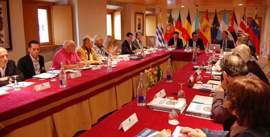 Reunión de la Comisión Delegada del Consello de Comunidades Galegas, en Santo Estevo de Ribas de Sil.