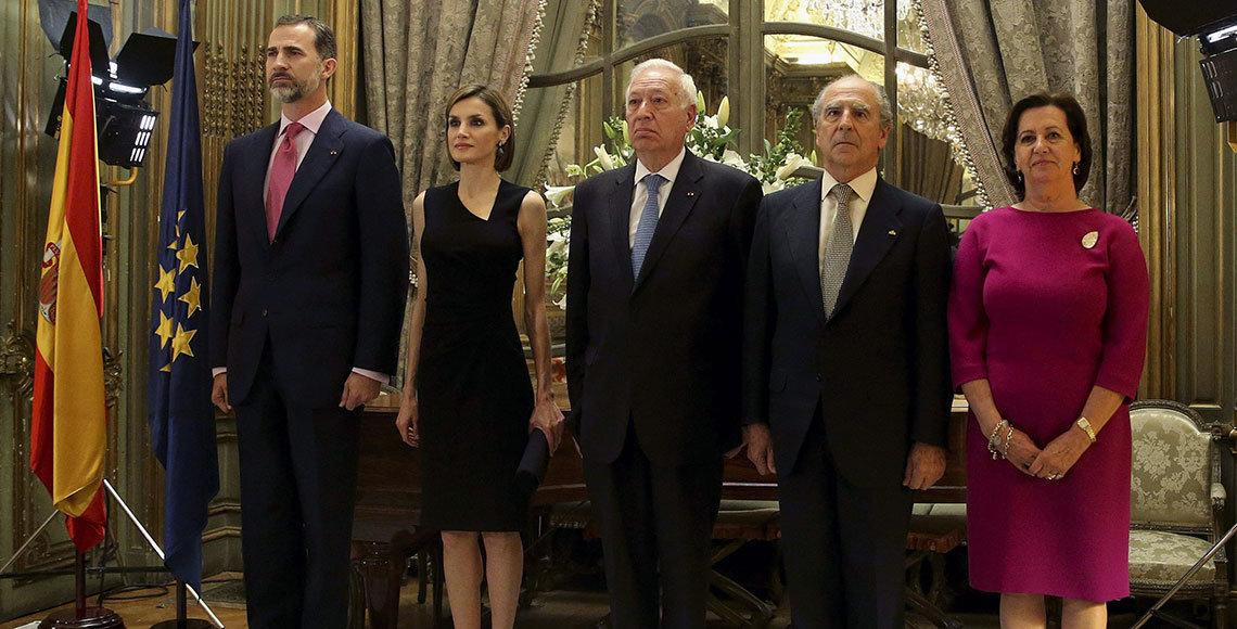 El Rey Felipe VI en la Embajada de España en París