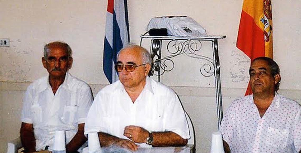 Sebastián Duque, el ourensano Antonio Fidalgo (fallecido) y Augusto Blanco, con españoles en Santa Clara.