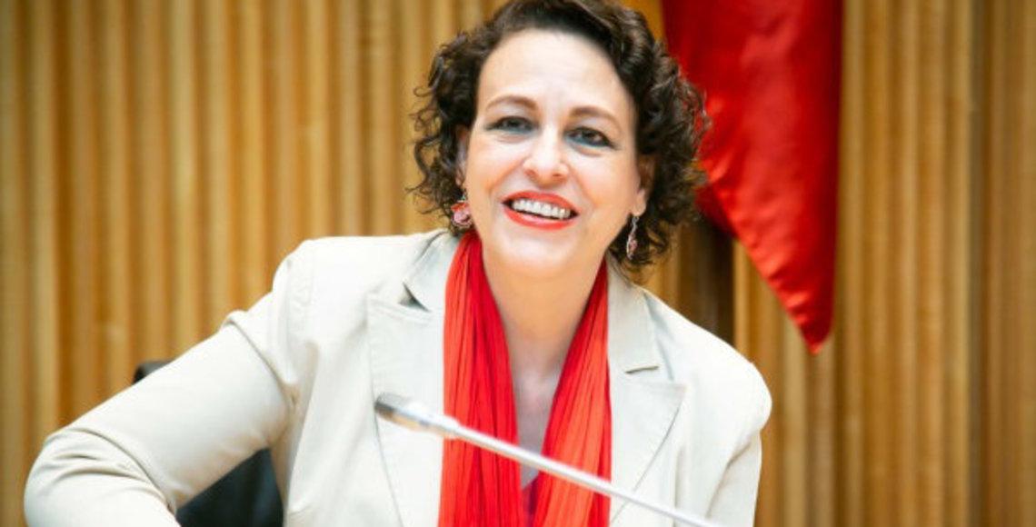 Magdalena Valerio durante su comparecencia