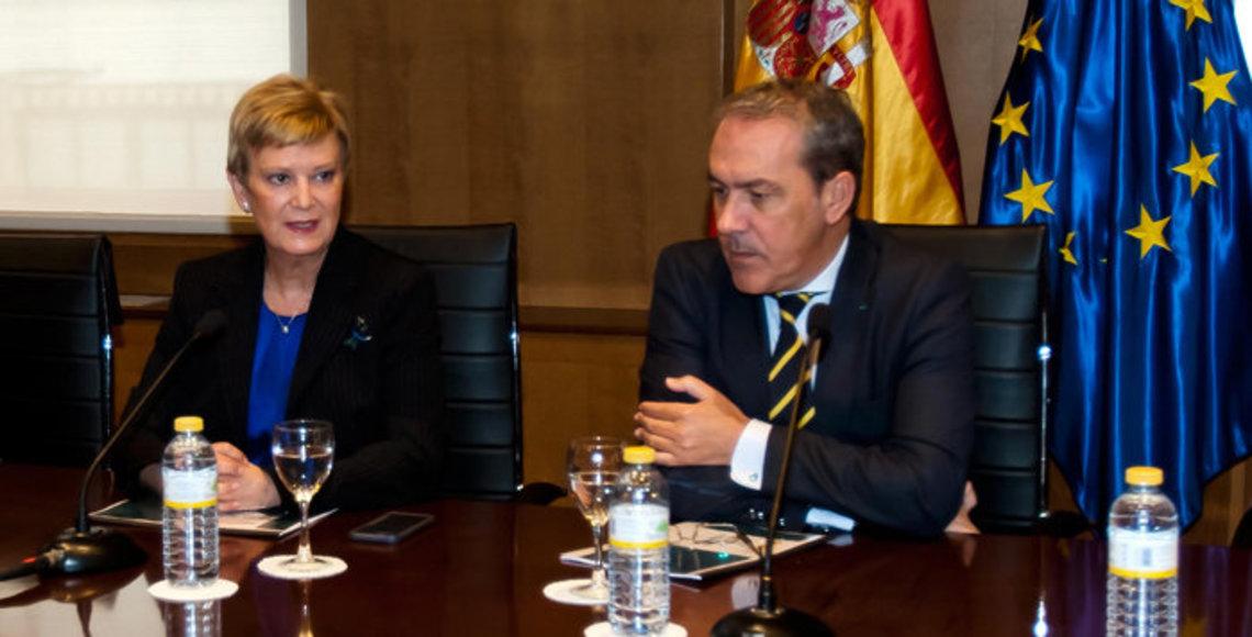La secretaria de Estado de Migraciones durante la presentación de la estrategia del Plan de Retorno a España