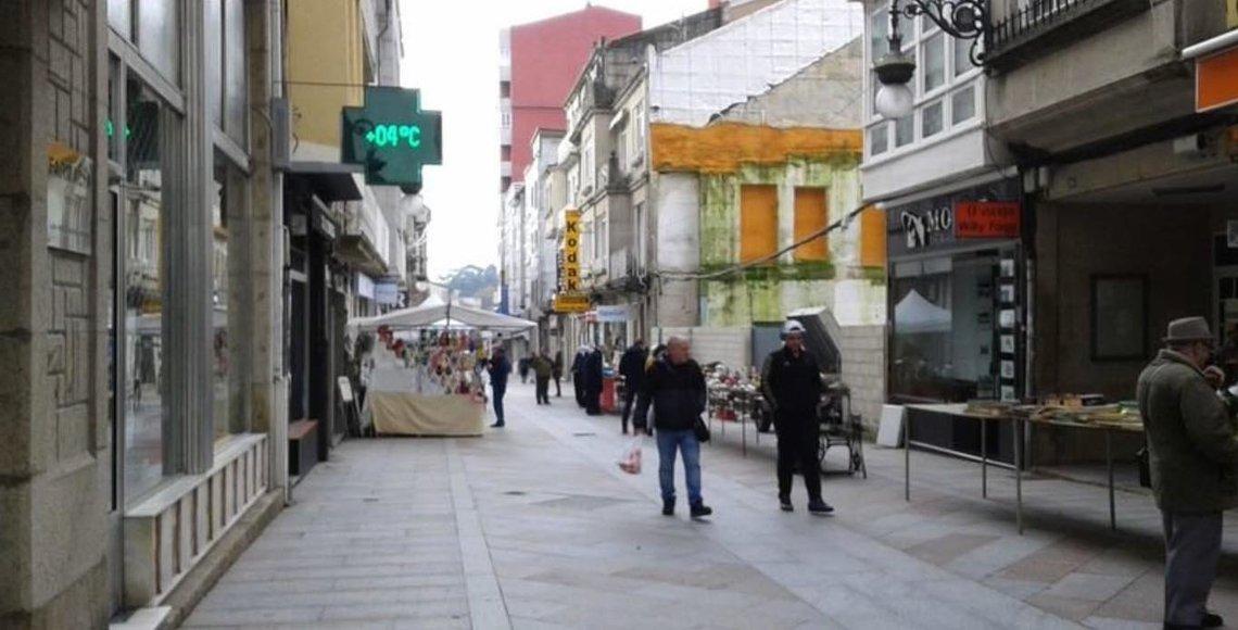 Imagen de las calles de O Carballiño, que cuenta con vecinos de 55 nacionalidades diferentes