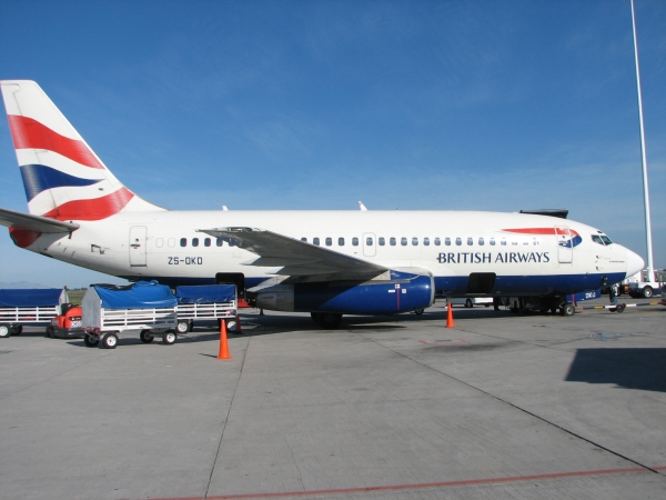 Avión de la flota de British Airways.